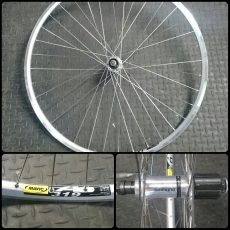 "Shimano FH-RM30 (7speed) x (28"" vanne) x DT Champion (36 kpl)"